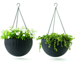 Hanging Resin Wicker Baskets