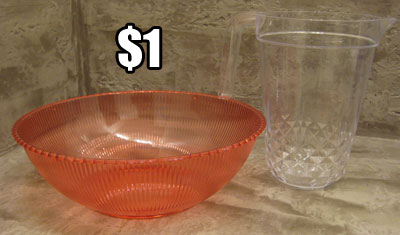 Plastic Planter Containers from Dollar Tree