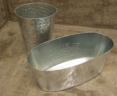 Small Galvanized Metal Pails for Plants