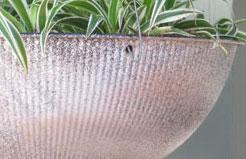 $1 Plastic Bowl Painted to Look Like Galvanized Metal